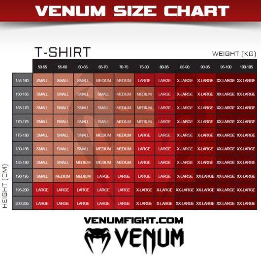 Venum Compression T-shirt Maattabel