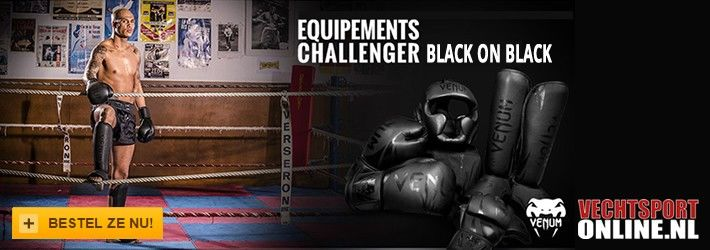 Venum Challenger Black on Black - Vechtsportonline.nl